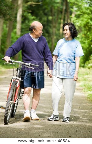 Senior Active Asian Couple