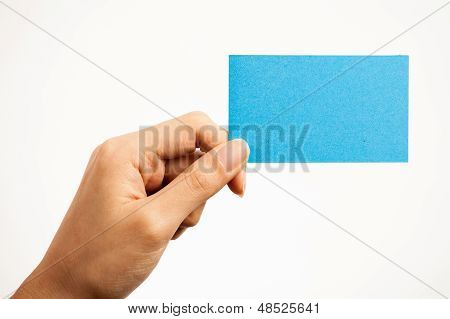 Business Cards And Blank Signs
