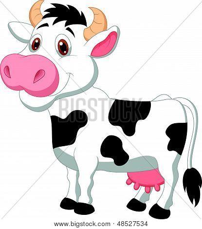 Cute cow cartoon