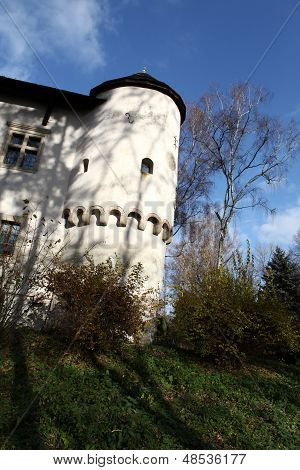 Fortified manor house in Yezhov built towards the end of the fifteenth century . Poland