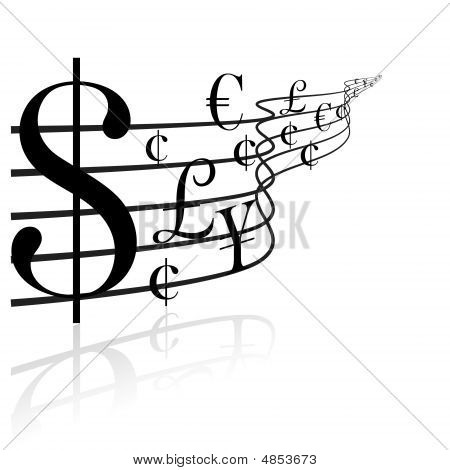 Financial Concept - Money Music