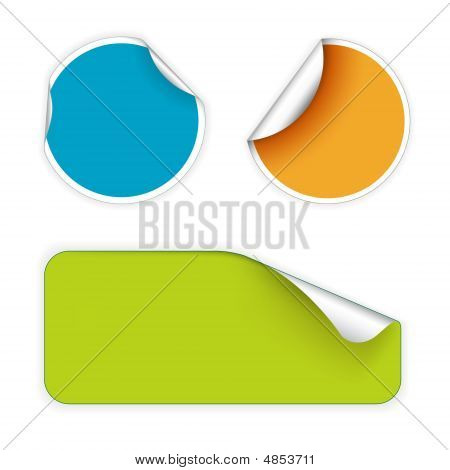 Set Of Fresh Labels (vivid Colors)