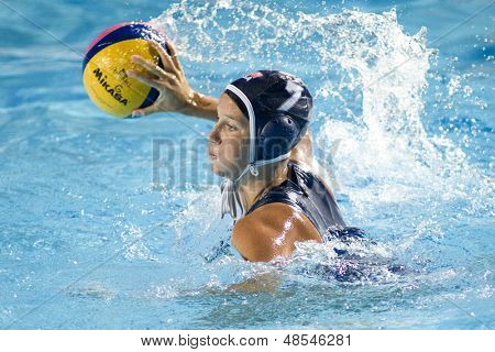 Jul 29 2009; Rome Italy; USA team player Kelly Rulon competing in the womens waterpolo semi final match between USA and Greece, USA won the match 8-7, at the 13th Fina World Aquatics Championships