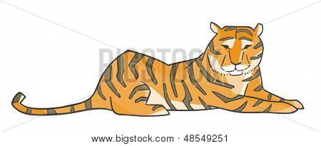 Illustration of a tiger.