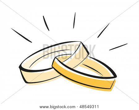Vectores y fotos en stock de Anillos de boda | Bigstock