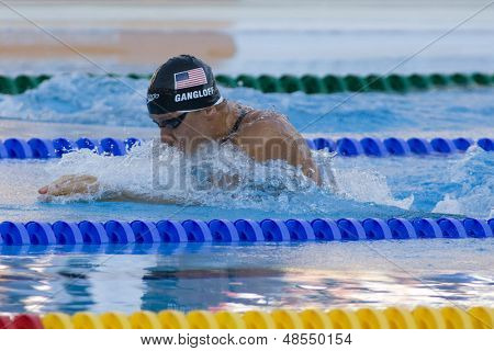 Jul 26 2009; Rome Italy; Mark Gangloff (USA) competing in the mens 100m breaststroke semi finals at the 13th Fina World Aquatics Championships held in the The Foro Italico Swimming Complex.
