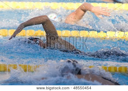 Jul 29 2009; Rome Italy; Dana Vollmer (USA) on her way to winning a bronze medal in the 200m freestyle at the 13th Fina World Aquatics Championships held in the The Foro Italico Swimming Complex.