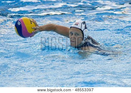 Jul 23 2009; Rome Italy; Heather Petri (USA) competing in the preliminary round of the waterpolo competition between USA and Greece at the 13th Fina World Aquatics Championships