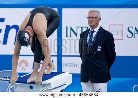 Jul 28 2009; Rome Italy; Allison Schmitt (USA) competing in the womens 200m freestyle semi final at the 13th Fina World Aquatics Championships held in the The Foro Italico Swimming Complex.