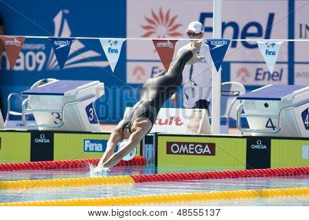 Jul 25 2009; Rome Italy; Julia Smit (USA) competing in the women's 200m individual medley at the 13th Fina World Aquatics Championships held in the The Foro Italico Swimming Complex.