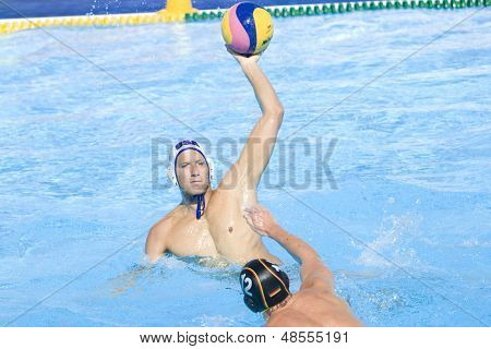 Jul 28 2009; Rome Italy; USA team player Anthony Azevedo competing in the mens waterpolo quarterfinal match between USA and Germany at the 13th Fina World Aquatics Championships