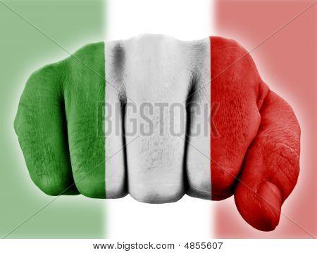 Fist With Italian Flag