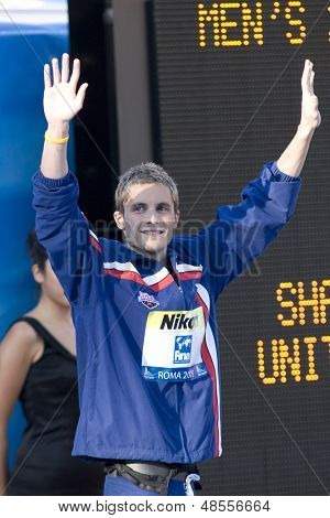 Jul 30 2009; Rome Italy; Eric Shanteau (USA) bronze medal winner  for the mens 200m individual medley at the 13th Fina World Aquatics Championships held in the The Foro Italico Swimming Complex.