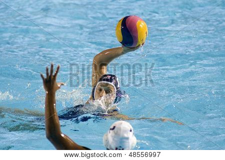 Jul 31 2009; Rome Italy; USA team player Alison Gregorka competing in the final of the womens waterpolo tournament, USA won the match 7-6, at the 13th Fina World Aquatics Championships