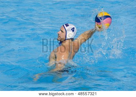 Jul 22 2009; Rome Italy; Jeffrey Powers USA team player competing preliminary round waterpolo match between USA and Macedonia in the 13th Fina World Aquatics Championships USA won the match 13-8.
