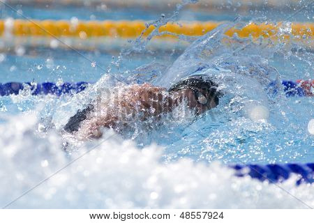 Jul 27 2009; Rome Italy; Blake Worsley (CAN) competing in the mens 200m freestyle at the 13th Fina World Aquatics Championships held in the The Foro Italico Swimming Complex.