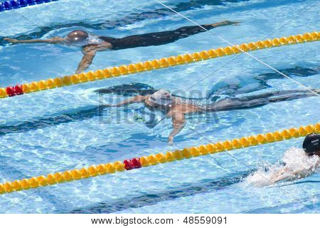 Jul 30 2009; Rome Italy; Eric Shanteau (USA) competing in the qualifying rounds of the mens 200m breaststroke, at the 13th Fina World Aquatics Championships held in the Foro Italico Swimming Complex.