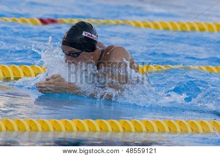 Jul 26 2009; Rome Italy; Eric Shanteau (USA) competing in the mens 100m breaststroke semi finals at the 13th Fina World Aquatics Championships held in the The Foro Italico Swimming Complex.