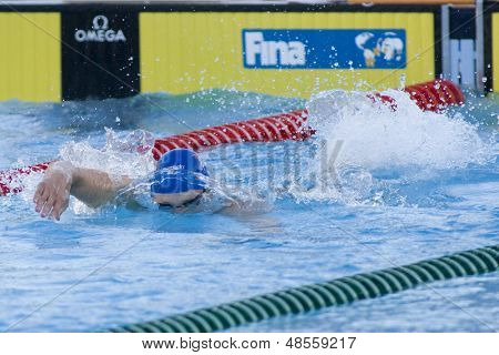 Jul 27 2009; Rome Italy; Ross Davernport (GBR) competing in the mens 200m freestyle semi final at the 13th Fina World Aquatics Championships held in the The Foro Italico Swimming Complex.