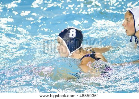 Jul 29 2009; Rome Italy; USA team player Jessica Steffens competing in the womens waterpolo semi final match between USA and Greece, USA won the match 8-7 at the 13th Fina World Aquatics Championships