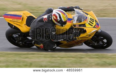 26 Sept 2009; Silverstone England: Rider number 118 Richard Cooper GBR riding for Team Co-ordit  during the free practice session of the British Superbike Championship: