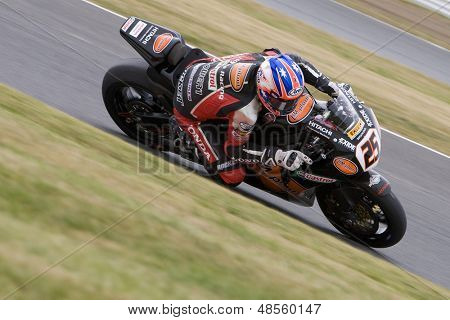 26 Sept 2009; Silverstone England: Rider number 25 Josh Brookes AUS riding for HM Plant Honda  during the free practice session of the British Superbike Championship: