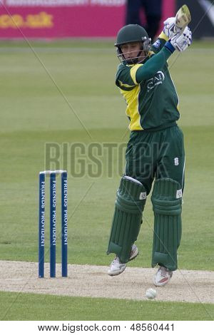 May 03 2009; Southampton Hampshire, J Taylor   competing in Friends Provident trophy 1 day cricket match between Hampshire and Leicestershire played at the Rose Bowl.