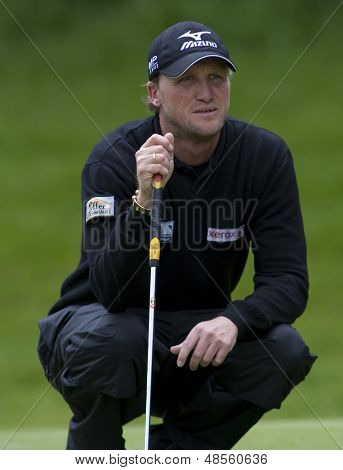 SAINT-OMER, FRANCE. 19-06-2010, Thomas Feyrsinger (AUT) on the third day of the European Tour, 14th Open de Saint-Omer, part of the Race to Dubai tournament and played at the AA Saint-Omer Golf Club .