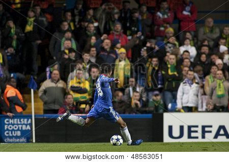 LONDON ENGLAND 23-11-2010. Chelsea's midfielder Yuri Zhirkov in action during the UEFA Champions League group stage match between Chelsea FC and MSK Zilina
