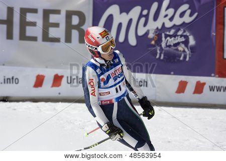 SOELDEN AUSTRIA OCT 25, Nicole Guise ITA competing in the womens giant slalom race at the Rettenbach Glacier Soelden Austria, the opening race of the 2008/09 Audi FIS Alpine Ski World Cup