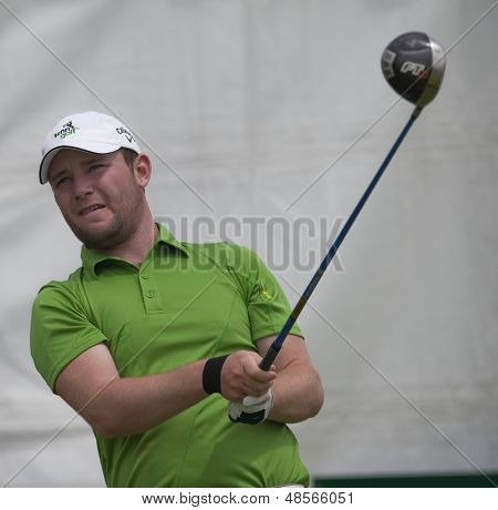 SAINT-OMER, FRANCE. 17-06-2010, Branden Grace (RSA) on the first day of the European Tour, 14th Open de Saint-Omer, part of the Race to Dubai tournament and played at the AA Saint-Omer Golf Club .