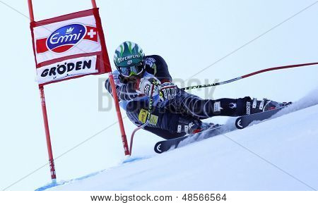 VAL GARDENA, ITALY 18 December 2009. Bode Miller (USA) competing in the Audi FIS Alpine Skiing World Cup Super-G race