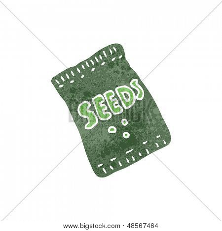 retro cartoon seed packet