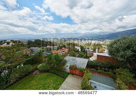 Beautiful view of Cumbaya Valley, Quito - Ecuador