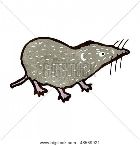 retro cartoon shrew