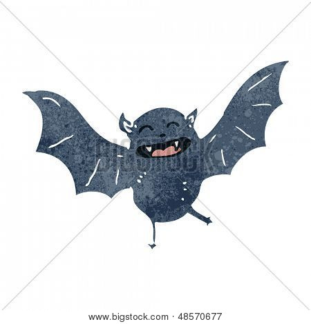 retro cartoon halloween bat