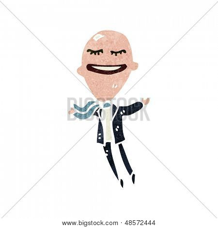 retro cartoon balloon head man