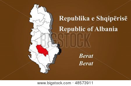 Albania - Berat Highlighted