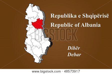 Albania - Debar Highlighted
