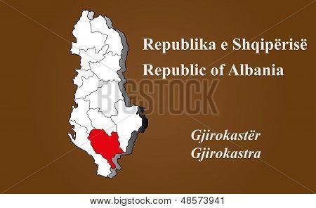 Albania - Gjirokastra Highlighted