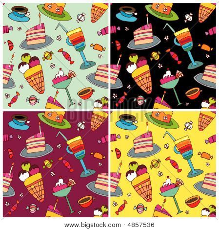 Sweets Pattern Set.