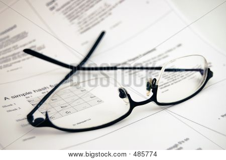 Glasses On Lecture Notes