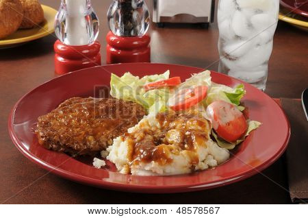 Meatloaf And Mashed Potatoes