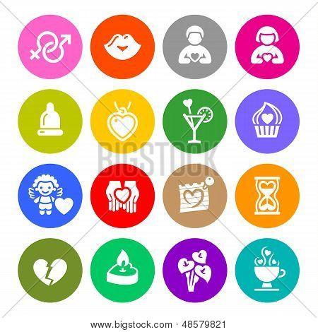 90_set Valentine's Day Buttons, Love Romantic Symbols Colour Round.jpg
