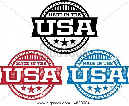 Made in USA Vector Stamps