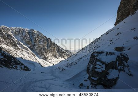 A Man In Winter Mountains