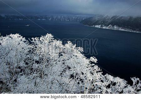 Masyu Lake In Winter, Japan