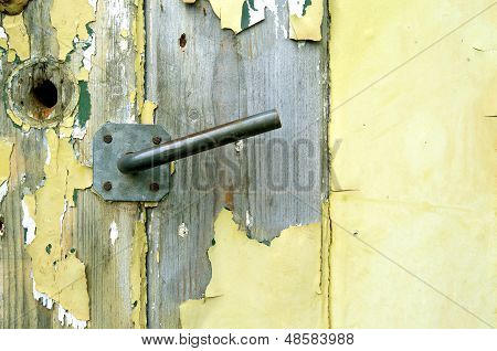 Old Door Of A Shed.