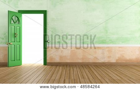 Empty vintage foyer