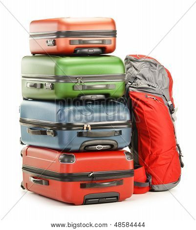 Luggage Consisting Of Large Suitcases And Rucksack